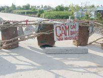Sau 7 tháng, công trình 150 tỷ ở Cà Mau đã sụt lún