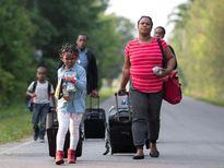 Hình ảnh dòng người tị nạn đổ sang Canada do lo ngại bị trục xuất khỏi Mỹ