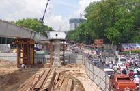 Đình chỉ thi công cầu vượt Nguyễn Thái Sơn-Nguyễn Kiệm
