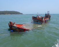 Quảng Ninh: Chìm tàu cá vỏ gỗ, 6 ngư dân được cứu sống