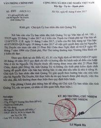 Phó Thủ tướng yêu cầu Chủ tịch UBND tỉnh Quảng Trị giải quyết việc bán nhà cho người dân theo Nghị định 61/CP