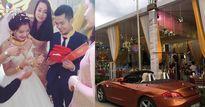"""Đám cưới khủng: Cô dâu, chú rể vàng đeo """"gãy cổ"""", bố mẹ chồng trao ngay biệt thự, xe hơi"""