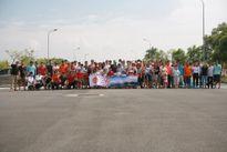 Hình ảnh 50 xe Kia Morning thực hiện xếp xe hoành tráng tại Hà Nội