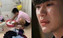 Một lần giặt đồ vì vợ ốm nằm viện, chồng bật khóc nức nở…