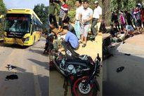 Cặp vợ chồng lái môtô phân khối lớn tông móp đầu xe khách, 1 người tử vong