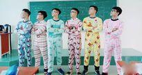 Em trai Sơn Tùng M-TP rủ bạn mặc đồ ngủ quậy tung lớp học