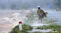 Trung tâm Khí tượng dự báo những vùng sạt lở, ngập lụt sau bão số 10