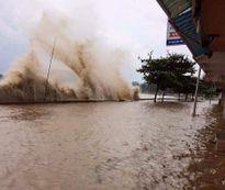 Ảnh hưởng Bão số 10: Đồ Sơn sóng lớn, triều cường đe dọa khu vực ven biển