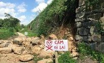 Tường thành nhà Hồ bị đổ vì bão số 10