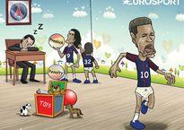 Hí họa Cavani cướp đồ chơi khiến Neymar khóc như trẻ con