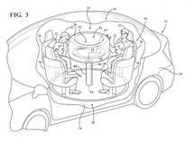 Ford sáng chế 'túi khí bàn tròn' an toàn cho xe tự lái