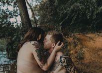 Bộ ảnh lãng mạn của 'nàng béo chàng gầy' gây xôn xao mạng xã hội
