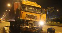Hai xe container tông nhau, một tài xế chết thảm