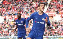 Morata lập hat-trick, Chelsea đè bẹp Stoke City