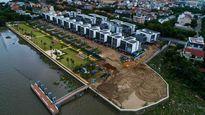 Tiến hành tháo dỡ phần xây dựng sai phép tại dự án biệt thự trăm tỷ lấn sông Sài Gòn