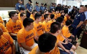42 nghi phạm Trung Quốc bắt cóc con tin tại Philippines