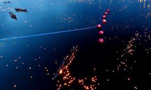 Sông Thạch Hãn rực sáng đêm tri ân anh hùng, liệt sĩ