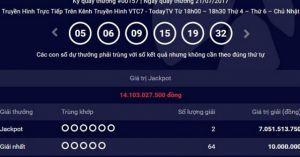 Người Hà Nội tiếp tục trúng giải Jackpot trị giá 7 tỷ đồng?