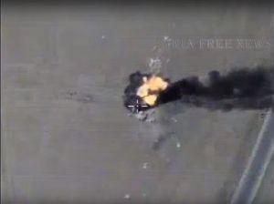 Không quân Nga hủy diệt đoàn xe cơ giới IS ở Hama (video)