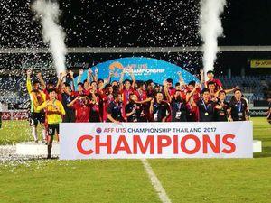 Vượt qua người Thái, Việt Nam vô địch giải U.15 Đông Nam Á 2017