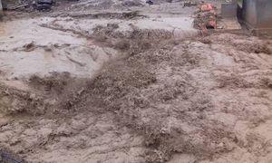 Nước lũ cuốn trôi nhà, đánh sập cầu ở Nghệ An