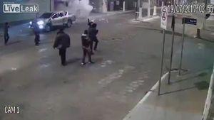 Camera ghi cảnh vụ cướp ngân hàng như phim hành động