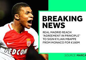 Real Madrid chốt mua 'thần đồng' Mbappe với giá kỷ lục