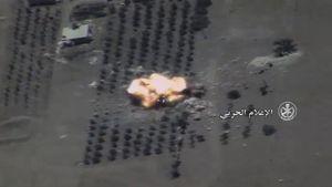 Không quân Nga 'thổi bay' tổ hợp pháo phản lực IS tại Hama (video)