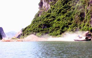 Công trường khai thác đá trên vịnh Hạ Long: Trồng 1.000 cây keo để hoàn nguyên môi trường