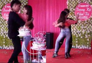 Cô gái xinh đẹp gây tranh cãi với màn nhảy bốc lửa, táo bạo trong đám cưới