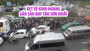 Cửa ngõ sân bay Tân Sơn Nhất nghẹt thở vì kẹt xe kinh hoàng
