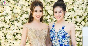 Hoa hậu Mỹ Linh xinh như công chúa khi hội ngộ đàn chị Tú Anh tại sự kiện