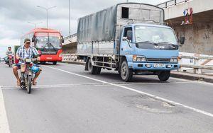 Đường lún, ổ voi trên đoạn quốc lộ đầu tư 300 tỷ trải thảm ở Cai Lậy