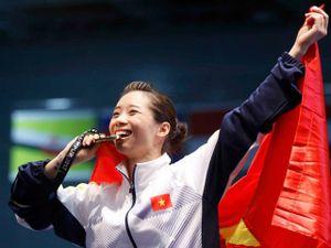 Clip Thúy Vi nhận HCV SEA Games: Quốc ca hào hùng, triệu người mừng rỡ
