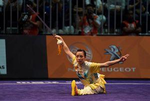 Dương Thúy Vi cảm ơn người hâm mộ sau HCV Wushu