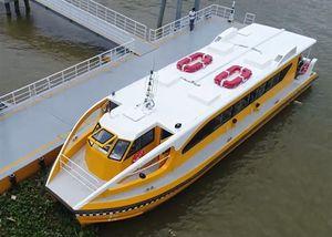 Cận cảnh tàu buýt sông đầu tiên ở Sài Gòn