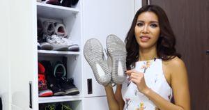 Minh Tú chi hàng trăm triệu đồng mua giày thể thao