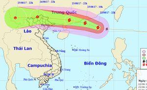 Ảnh hưởng hoàn lưu bão Hato, Bắc Bộ sắp mưa lớn