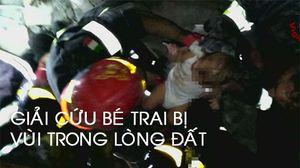 Giải cứu bé trai 3 tháng bị sâu vùi trong đổ nát sau trận động đất ở Ý