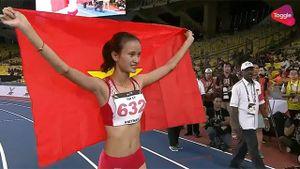 Vũ Thị Ly bỏ xa đối thủ, giành HCV 800 m
