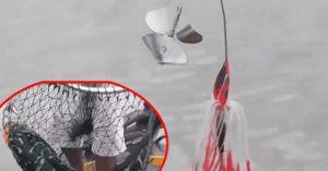 'Siêu' cần thủ câu cá 'khủng' bằng mồi giả