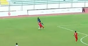 Clip: 'Tội đồ' Minh Long khiến U22 Việt Nam thủng lưới bàn thứ 2