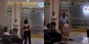 Người vợ cởi sạch đồ trả cho chồng cũ giữa trung tâm thương mại gây xôn xao