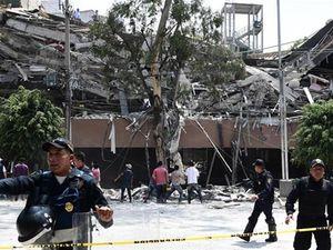 Cảnh tượng hỗn loạn khi xảy ra động đất khủng khiếp ở Mexico