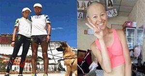 Cô gái dũng cảm cạo đầu, cùng người yêu chạy 4700km để chứng minh tình yêu chân thành của cả hai