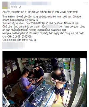 Vờ mua điện thoại iPhone, thanh niên xăm trổ 'cuỗm' luôn trong tích tắc