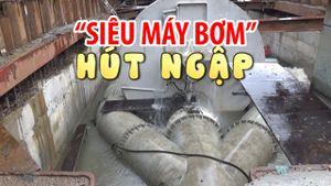'Siêu máy bơm' hút ngập đường Nguyễn Hữu Cảnh trong 13 phút
