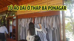 Tủ áo dài cho khách mượn ở Tháp Bà Ponagar