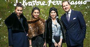 Thanh Hằng đẳng cấp thời thượng, hội ngộ mẹ và em chồngHà Tăng tại Milan Fashion Week