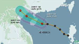 Áp thấp nhiệt đới vào ven biển Bắc Bộ gây mưa lớn